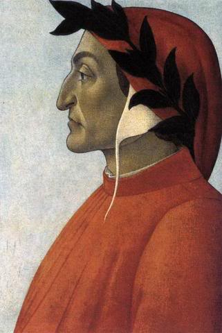 Profile portrait of Dante, by Sandro Botticelli (1444–1510)